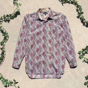 Tommy Hilfiger Paisley Button Up Shirt 🌞